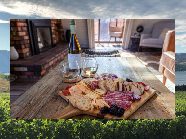 Wine tasting that is complemented by a cheese board