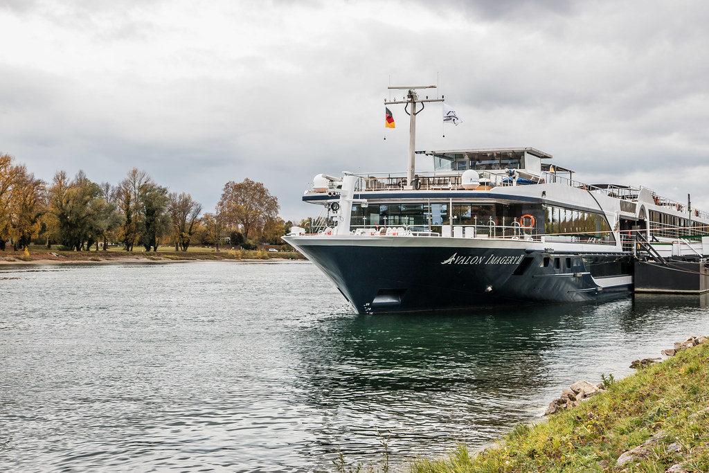 Avalon Waterways, an interline travel option, cruising down a German river