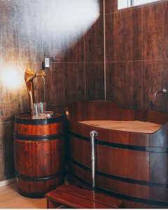 @bjorbodin Medieval beer bath. Unwind travel during COVID-19
