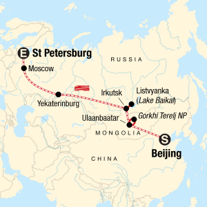 Trans-Mongolian Express Map