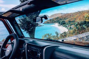 Virgin Islands in view from a car open during 2020